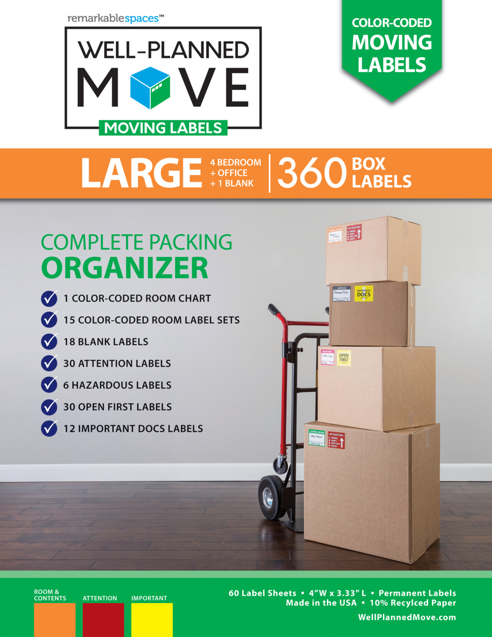 Well-Planned Move Moving Labels