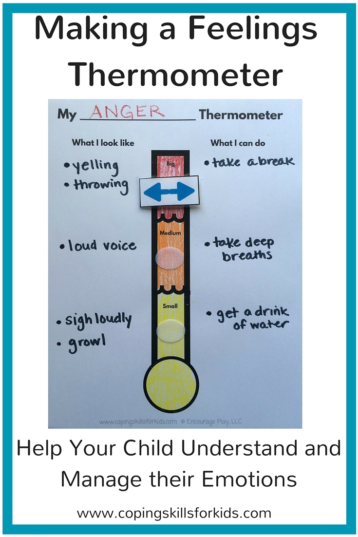 photo about Feelings Thermometer Printable named Producing a Inner thoughts Thermometer Coping Competencies for Small children
