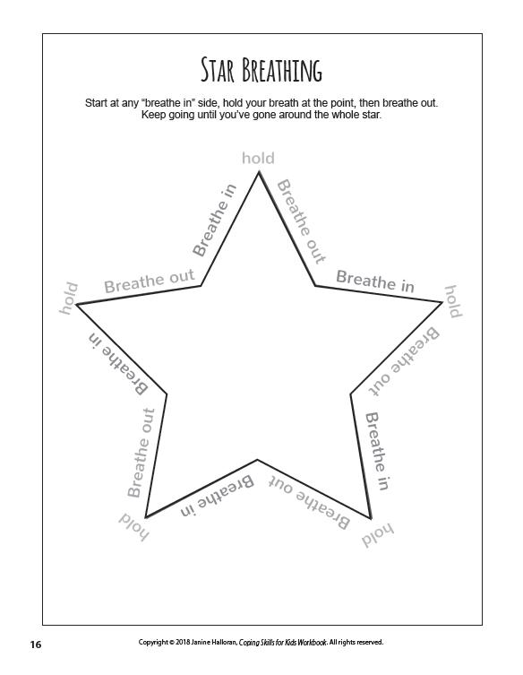 Star Breathing Worksheet Related Keywords & Suggestions - Star