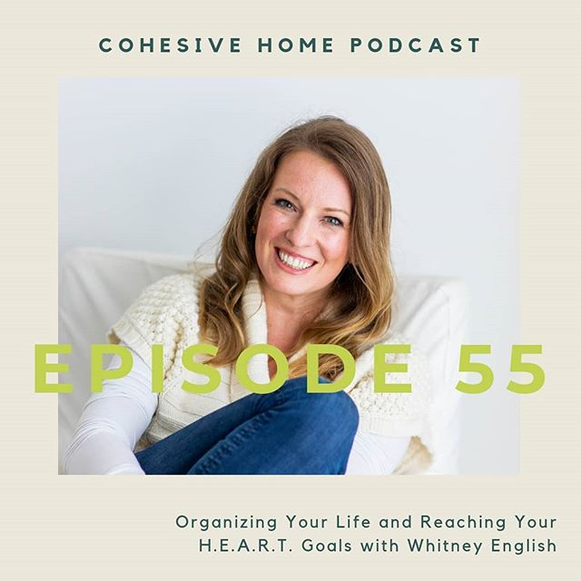 Episode 55 with Whitney English is here!! @whitneyenglish is a mama, a business strategist, creator of the Day Designer, and founder of H.E.A.R.T. Goals, a needs-based life planning system. In this interview, we chat everything from organizing your days, overcoming media pressure to live a certain way, creating goals that reflect how you really live and what you value, and so much more. Hop over to our Stories to see Kate share more about the interview and listen to it now via your favorite player (#itunes, #stitcherradio, #playerfm, our #youtube channel, or the #linkinbio.)