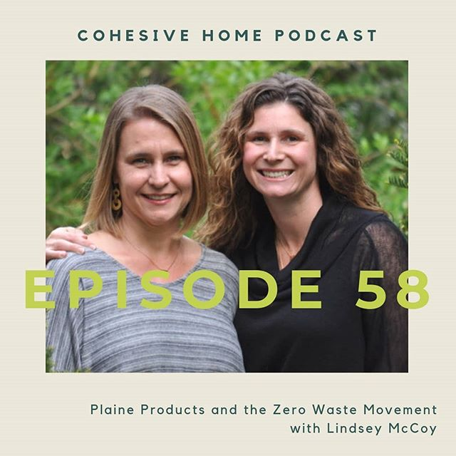 NEW EPISODE! Melissa chats with Lindsey, co-owner of sustainable hair and body care company @plaineproducts about how to live more zero-waste. This episode is full of practical suggestions and encouragement! Listen to it wherever you enjoy podcasts or check the #linkinbio.