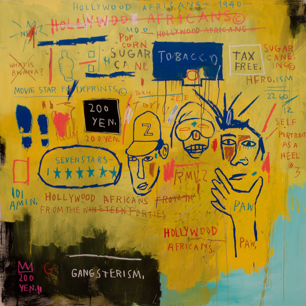 "Jean-Michel Basquiat, ""Hollywood Africans,"" 1983. Photo credit: Sharon Mollerus"