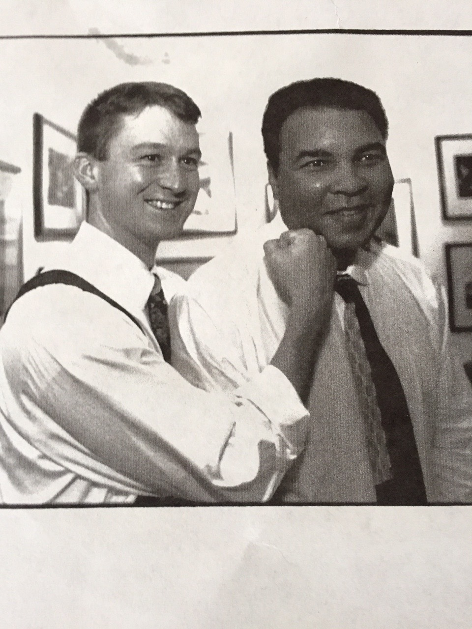 "Christian Talbot & Muhammad Ali, taken at Govinda Gallery in Washington, DC on September 20, 1995. What better picture for a blog post titled ""The 1-2 punch"" about DC-area private schools"