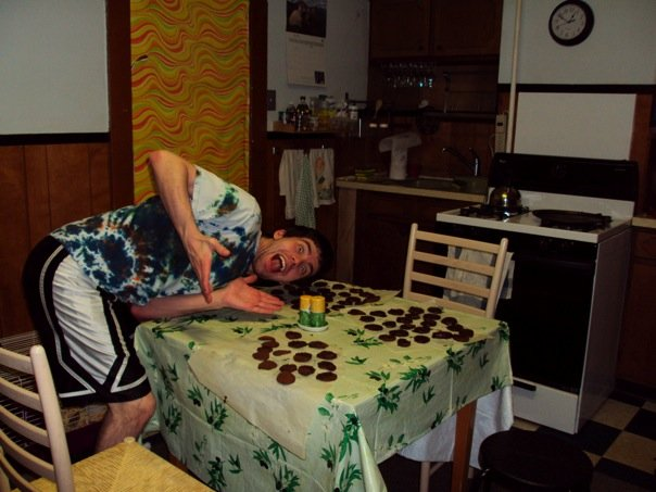 When I wasn't being a research assistant, Aaron and I made Girl Scout-style Thin Mint cookies in our tiny sublet.