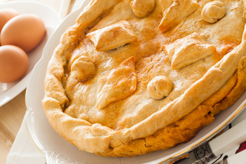 Another food that reminds me of home is French meat pie, or tourtière. We always got ours from the same bakery growing up, and they were the best part of every holiday meal.