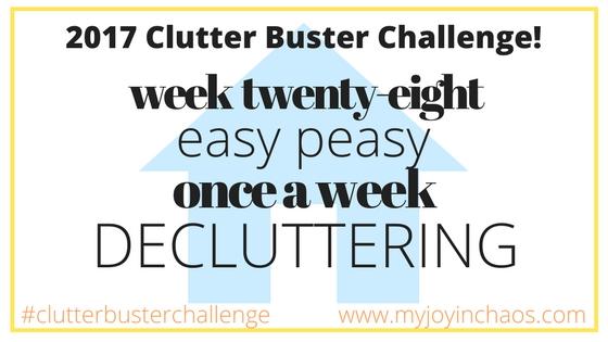 clutter buster week 28