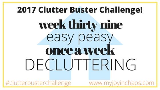 clutter buster week 39