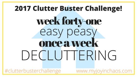 clutter buster week 41