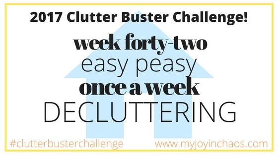 clutter buster week 42