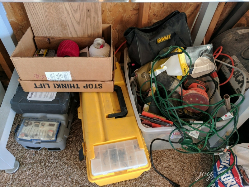 tool bench area clutter