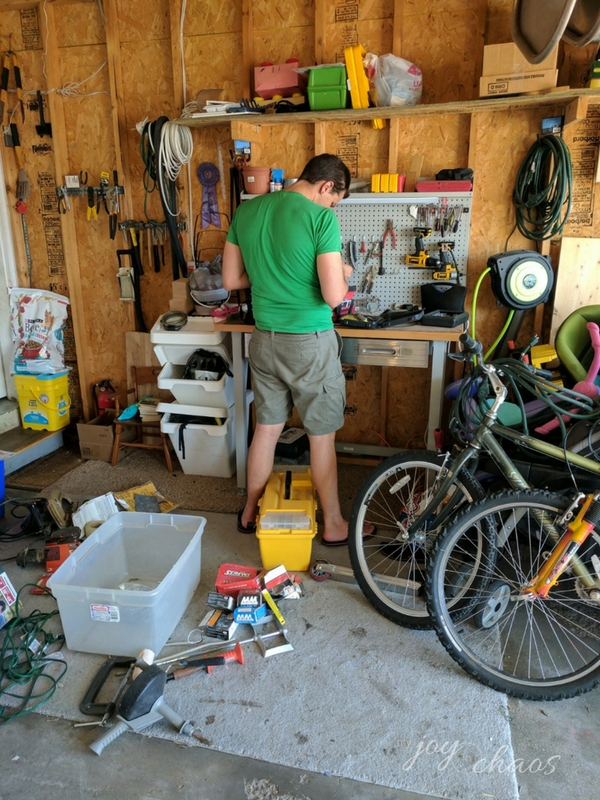 organizing tools garage clutter