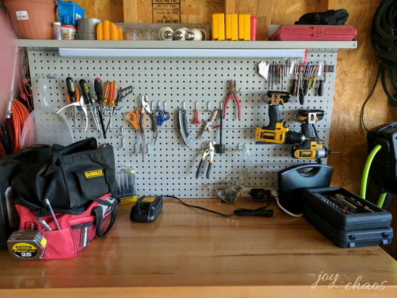 tool bench after