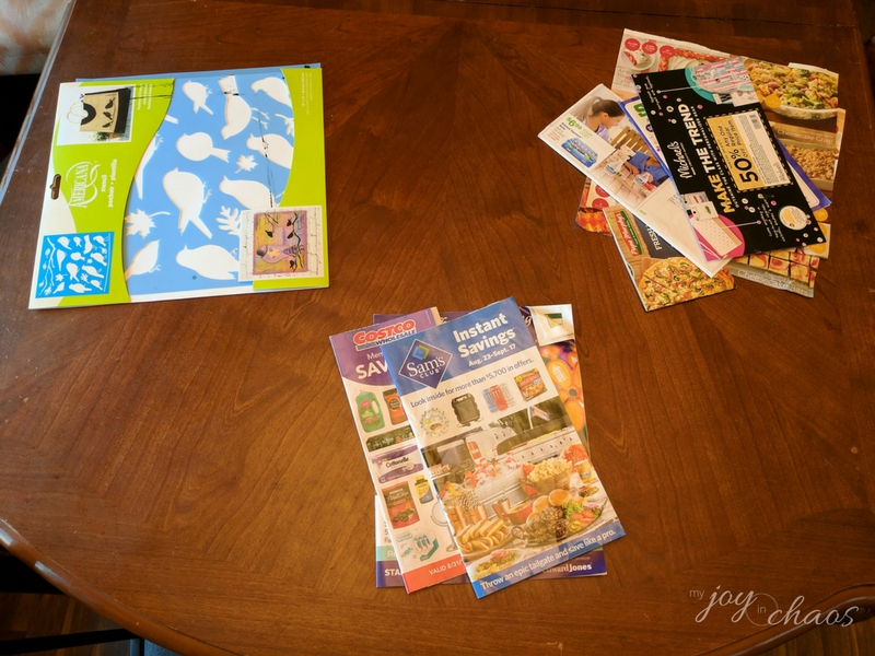 sorting mail clutter