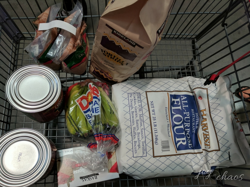 Costco shopping trip for family of seven