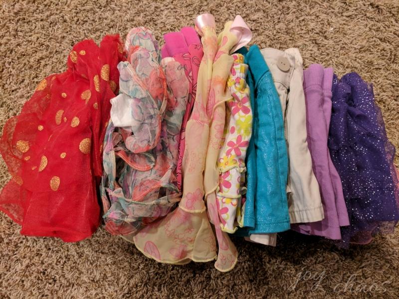 skirt donation pile