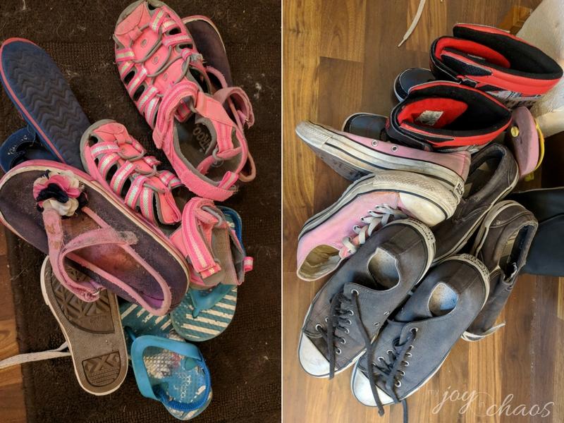 shoe clutter