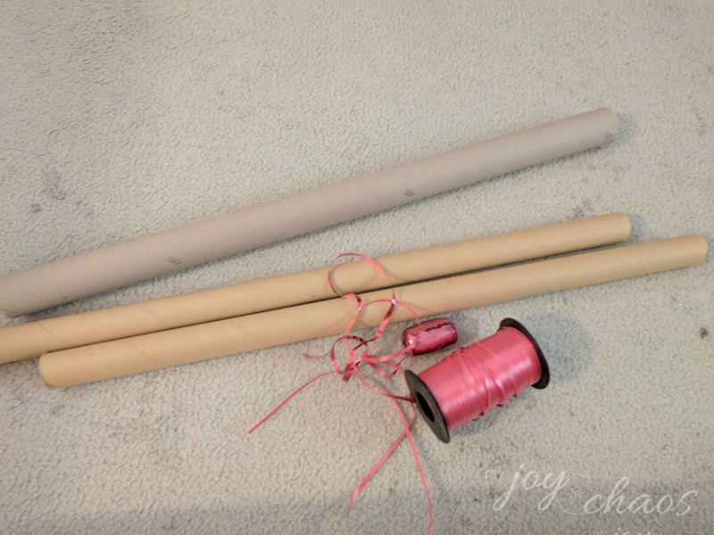 wrapping paper clutter