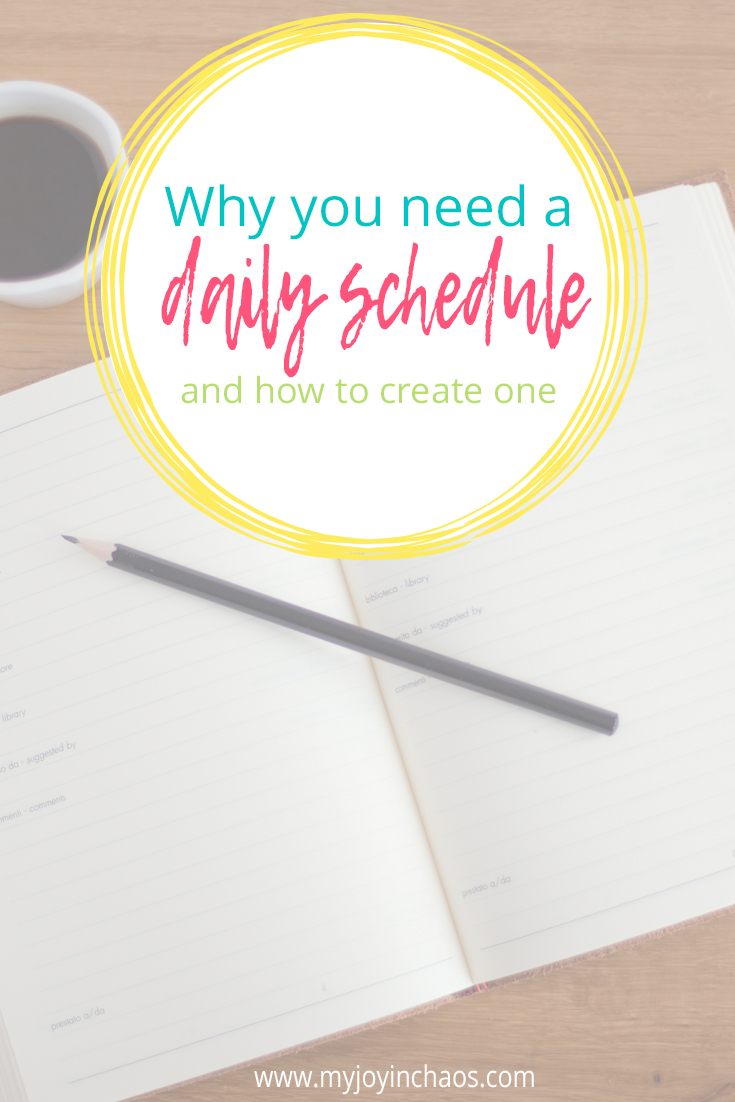 why you need a daily schedule and how to create one