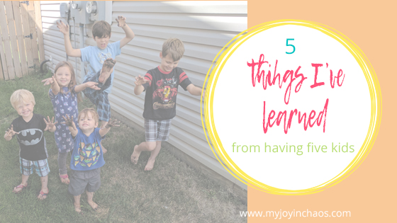 They are the lessons I need to remember when the chaos is building and I feel like I can't handle being a mom. That while this is happening it will also pass, there is more than just the loud and the crazy.