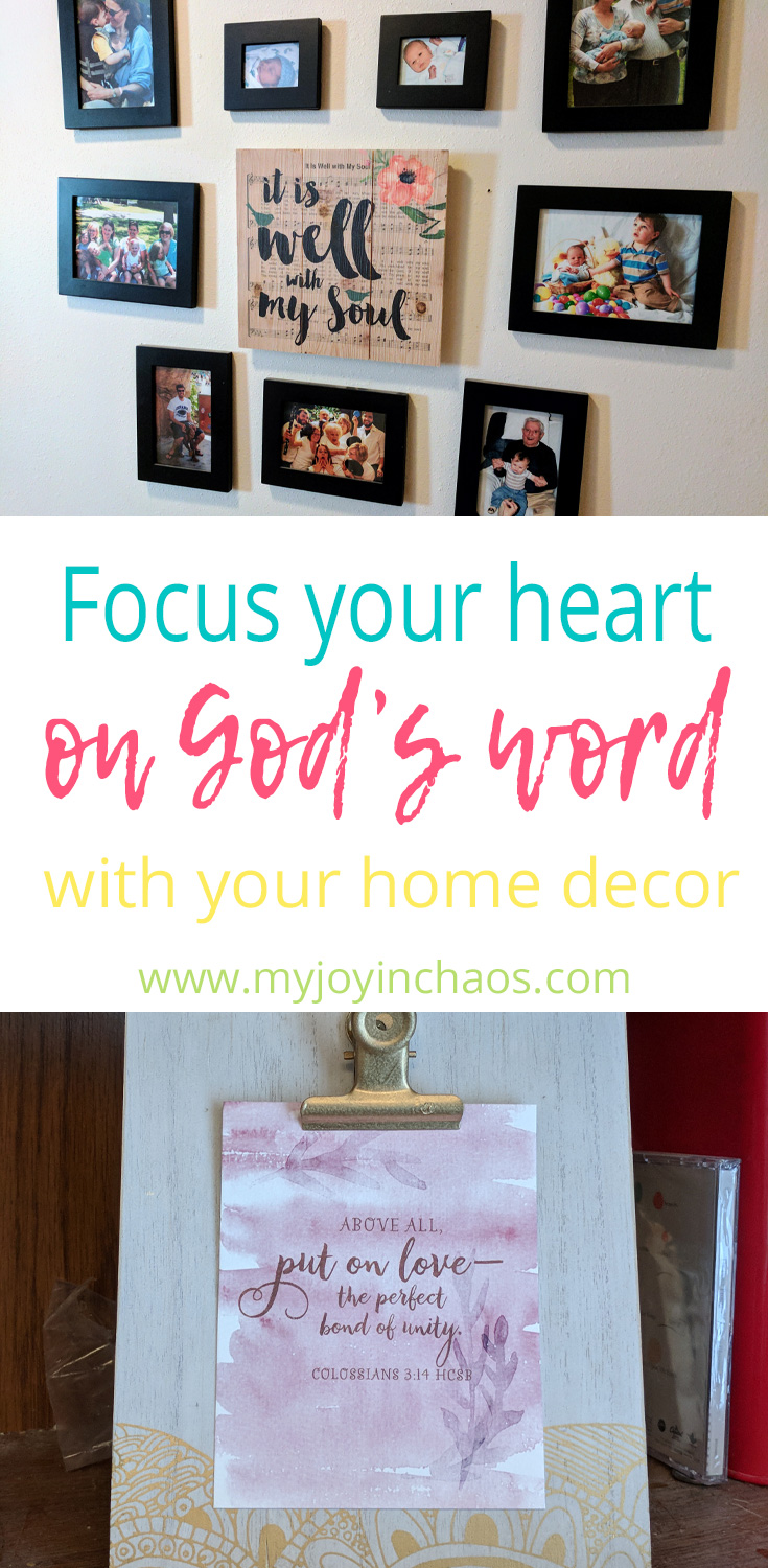Use the decor in your home to point your heart to God's word and God's truth. #homedecor #christiansigns #christiandecor #Bibleverses #hymns