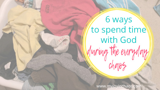 Discover six ways you can grow closer to Christ while you manage your house and raise your kids. #motherhood #Christianmom #faithlife #growinfaith