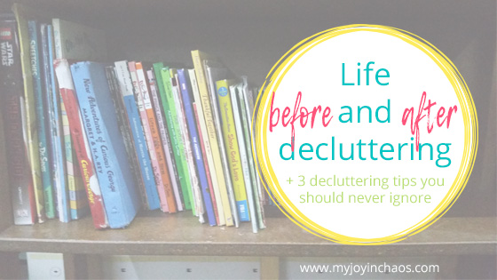 Decluttering has made a major impact on our lives over the last year or so. Here's what we learned from our decluttering challenge and 3 tips you should never ignoring if you are trying to get rid of clutter.
