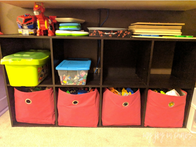new toy storage with significantly less clutter