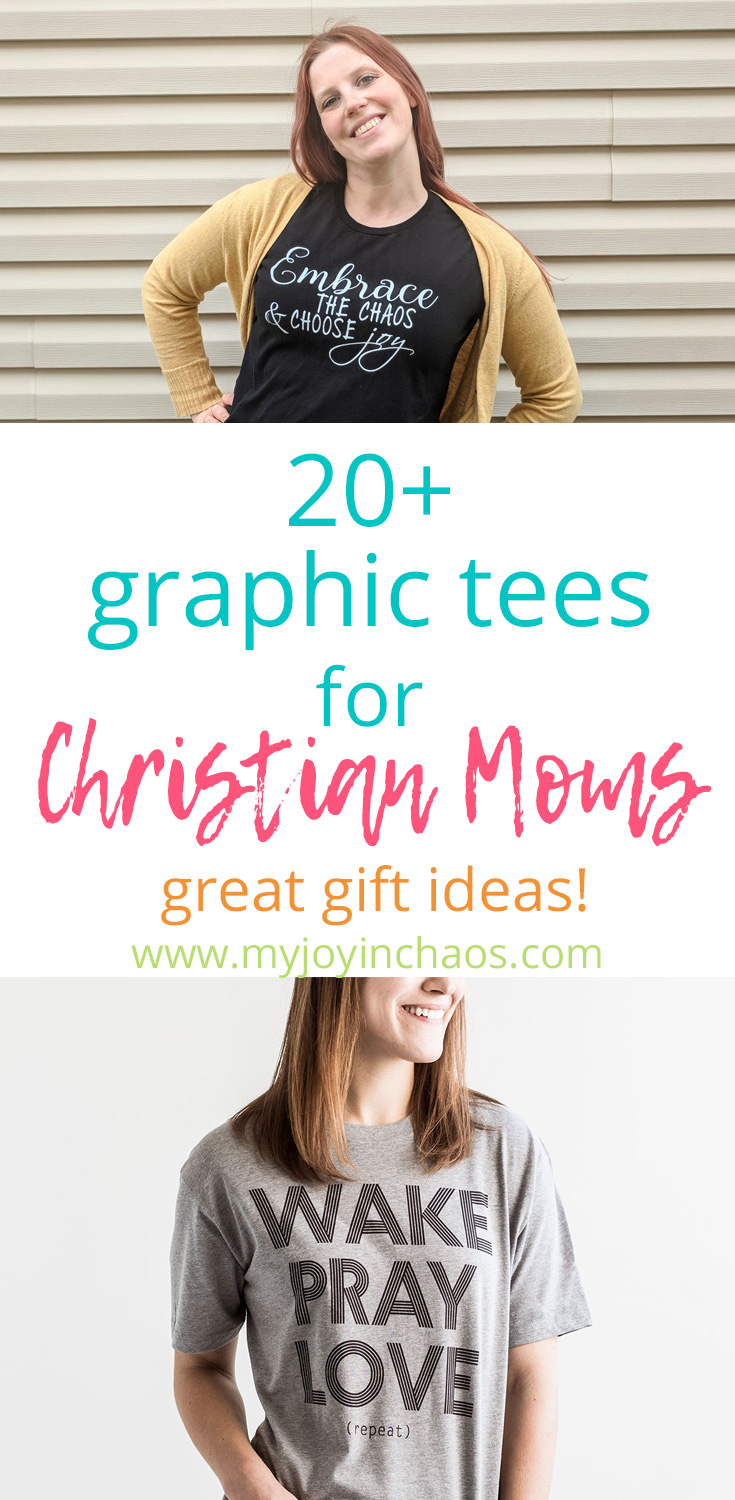 Grab yourself a graphic tee that shows off your faith and how blessed you are to be a mom! #christianshirt #christiantee #graphictee #momtshirt #momgraphictee