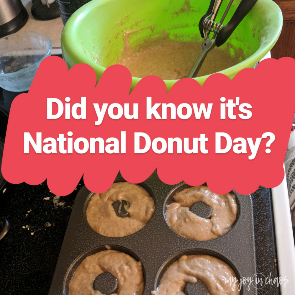 national donut day homemade cinnamon donuts