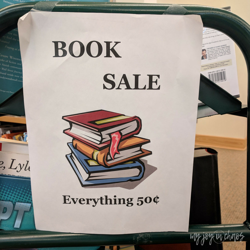 libraries often run book sales to sell off their extra stock. This is a great place to find books for cheap!