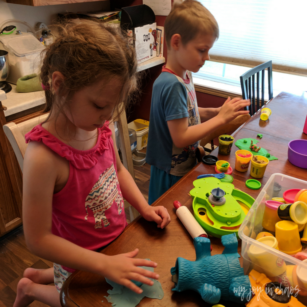 play doh rainy day fun for kids