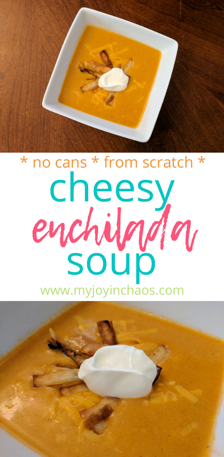 cheesy chicken enchilada soup from scratch
