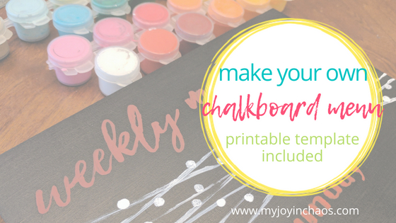 make your own chalkboard menu with a few simple supplies and this free printable template