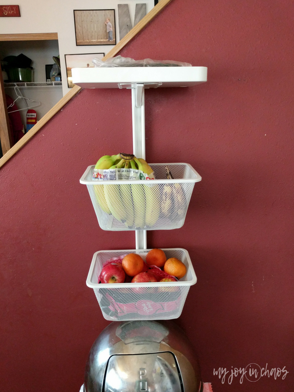 Keep fruit in easy to access bins to make it easy for your kids to pack their own school lunches!