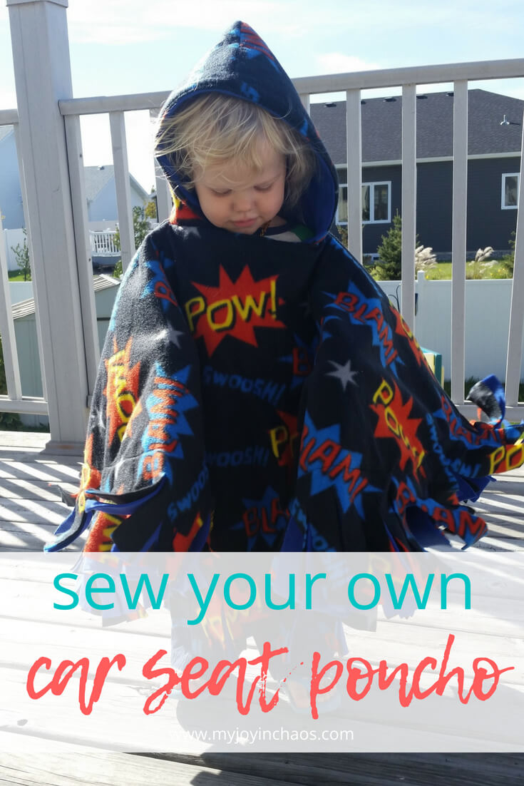 Ditch the bulky coats and keep your child safe this winter with a car seat poncho! It goes over the buckles so it doesn't interfere with the safety of your child. #carseatsafety #wintergear #howtokeepababywarminwinter #howtokeepkidswarmincarseat