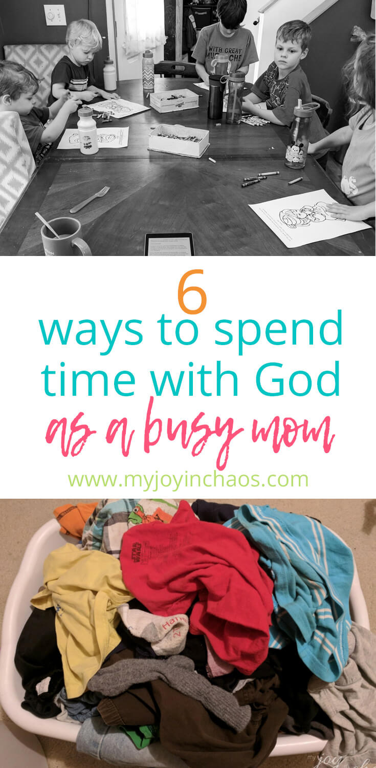 Discover six ways you can grow closer to Christ while you manage your house and raise your kids. #motherhood #Christianmom #faithlife #growinfaith #homemaking