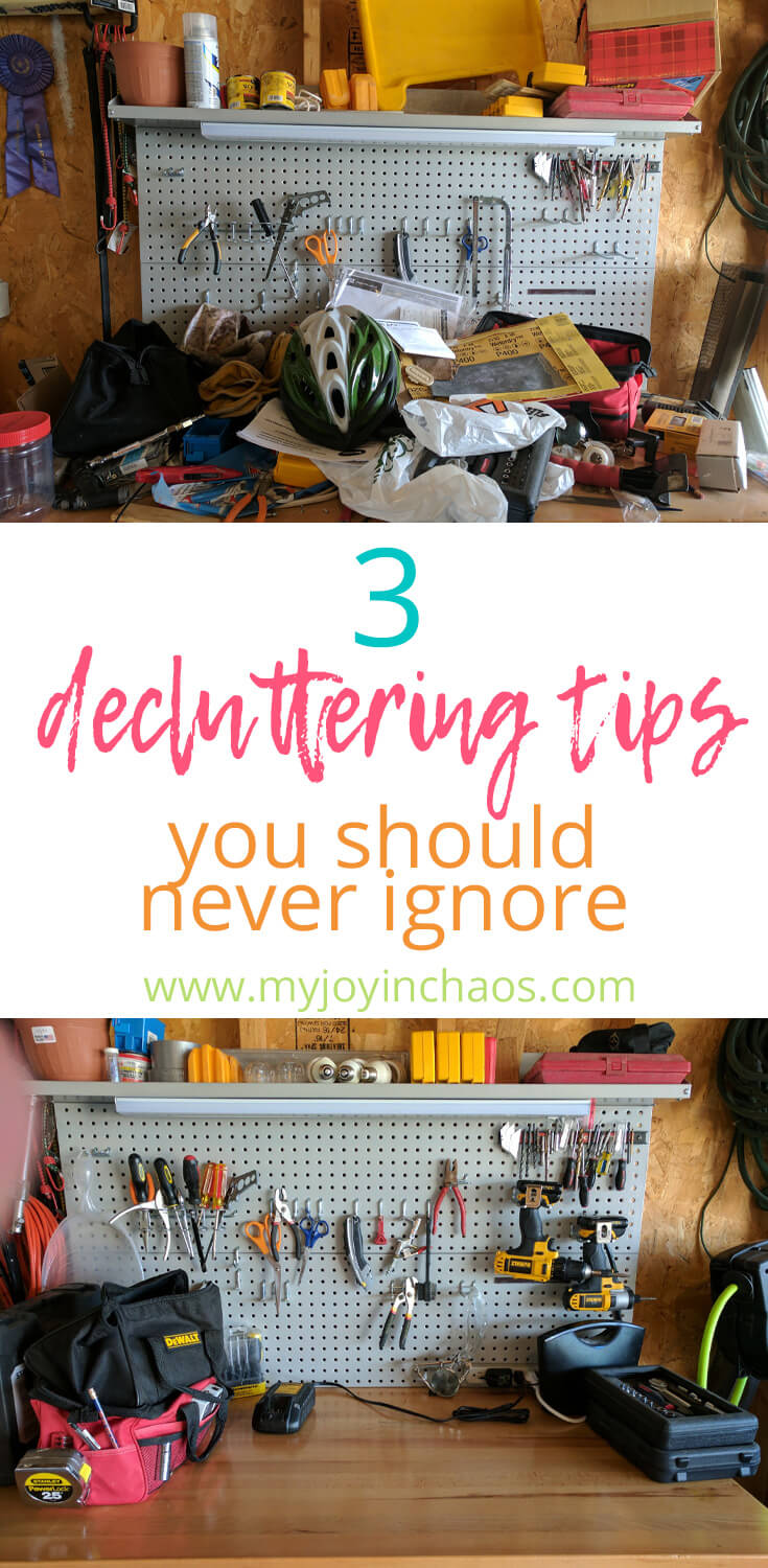 Decluttering has made a major impact on our lives over the last year or so. Here's what we learned from our decluttering challenge and 3 tips you should never ignoring if you are trying to get rid of clutter. #clutter #declutter #getridofclutter #minimalism #toomuchjunk