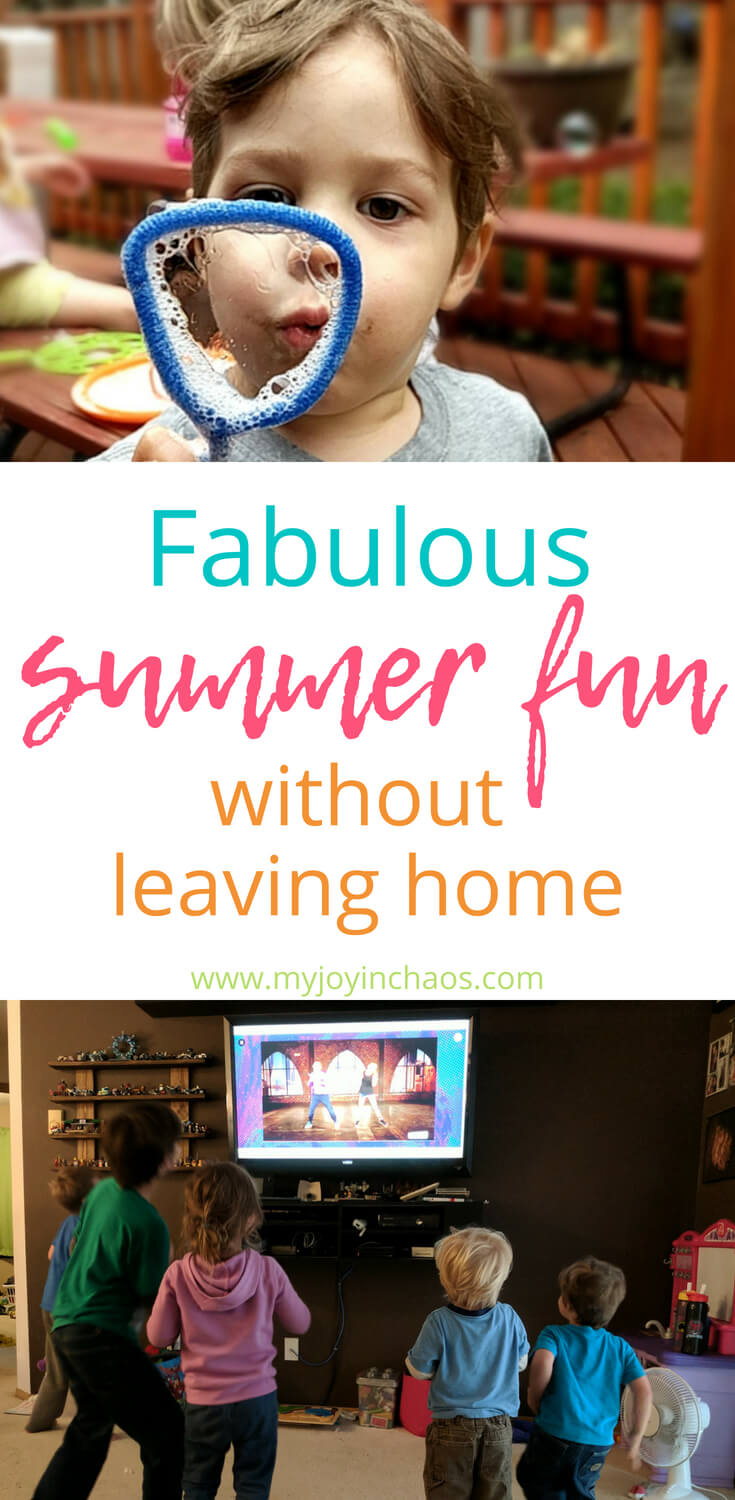 You can have loads of fun this summer without leaving home! Try these fabulous and frugal ideas for keeping boredom at bay and stregthening your family relationships during the summer months. #familyfun #summeractivities #familysummerfun