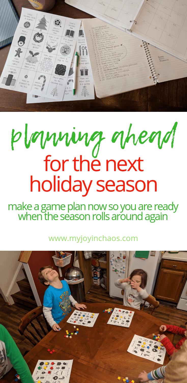 Now is the PERFECT time to start thinking about next Christmas because it's fresh in your mind! #holidayplans #holidaytraditions #holidaystress #simpleholidays #simpleChristmas #Christmasstress #Christmastraditions