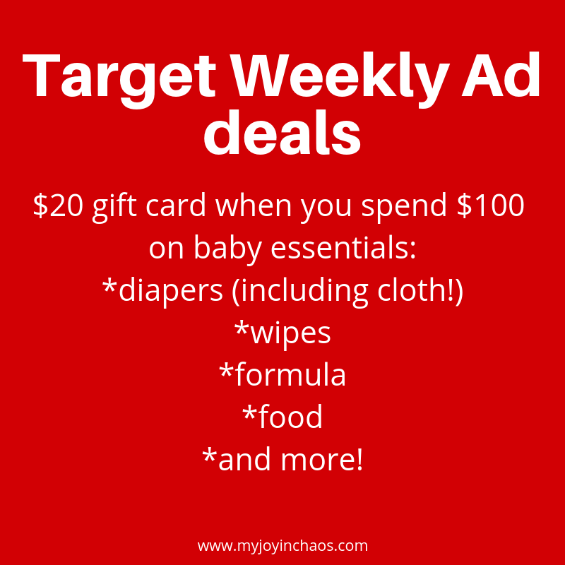 Baby costs add up and Target is here to save you a little bit of dough on essentials like diapers, wipes, formula, food, and more.