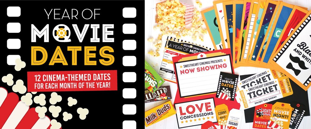 15% discount on Year of Movies date pack from Dating Divas. #athomedates #datenight #movienight