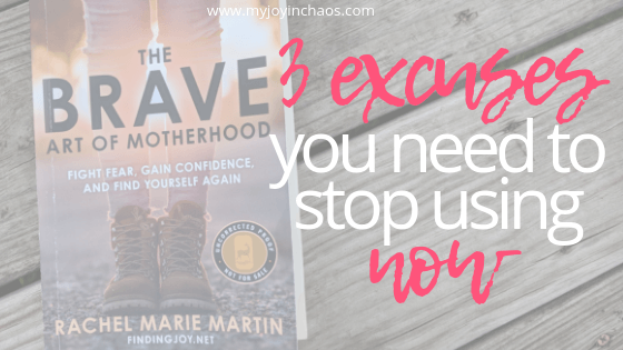 Stop letting these three types of excuses stand in the way of you trying new things, stepping out of your comfort zone, and achieving your dreams. #goals #excuses #achievedreams #howtostopprocrastinating #baom #findingjoy #amreading #bookreview