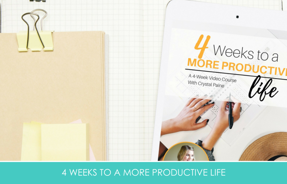 4 Weeks to a more productive life by Crystal Paine of Money Saving Mom and Your Blogging Mentor is included in the All Things Holiday Bundle. Make 2019 your best year ever!