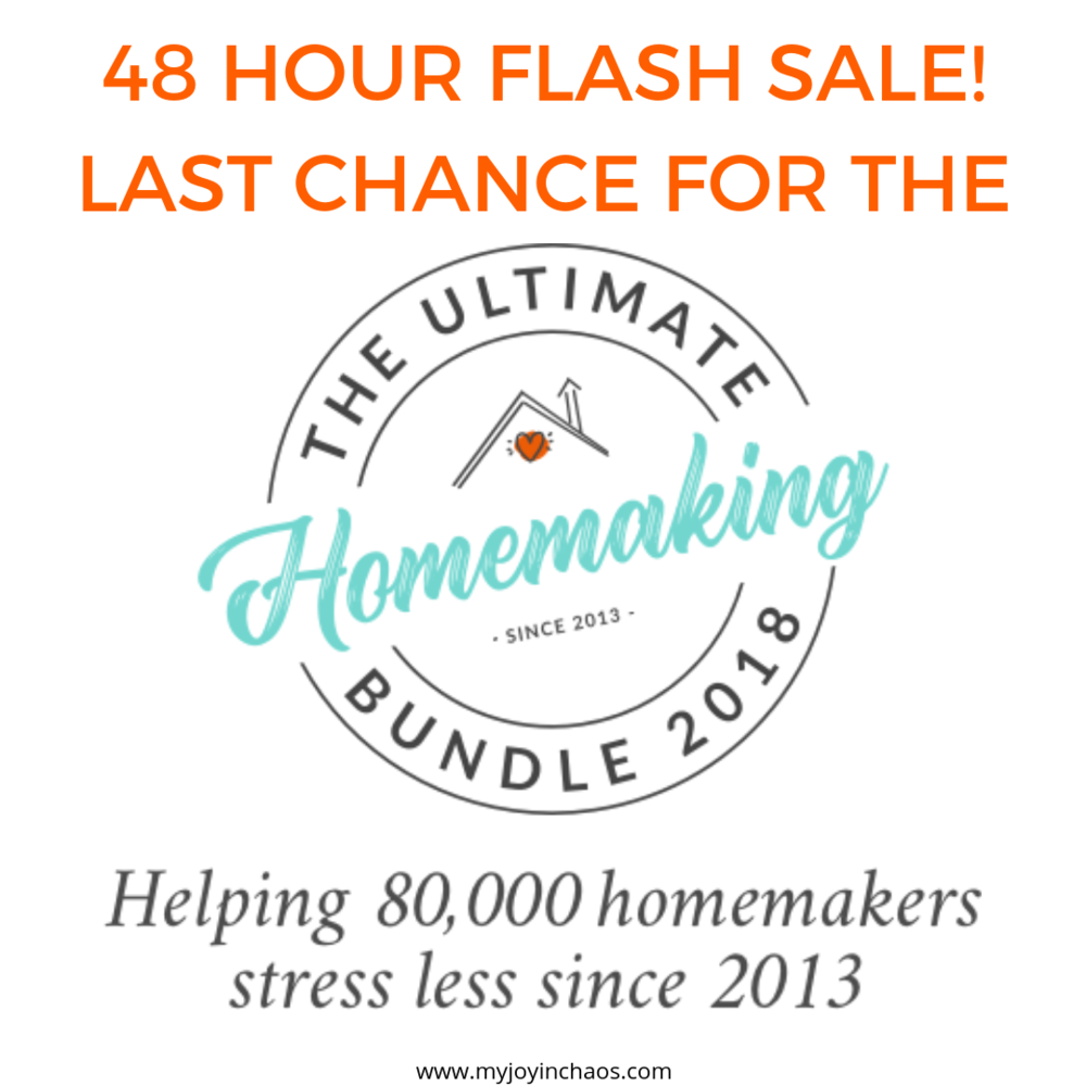 Ultimate Homemaking Bundle 2018 Flash Sale