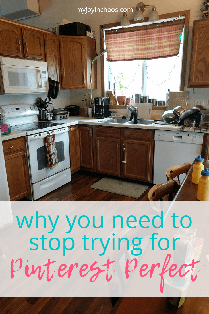 My home will never be Pinterest Perfect | We need to let go of the idea that our homes need to look a certain way in order to practice hospitality or open our doors to friends. #hospitality #homemaking #decor #homedesign #fixerupper #homemanagement #neverunfriended #myjoyinchaos