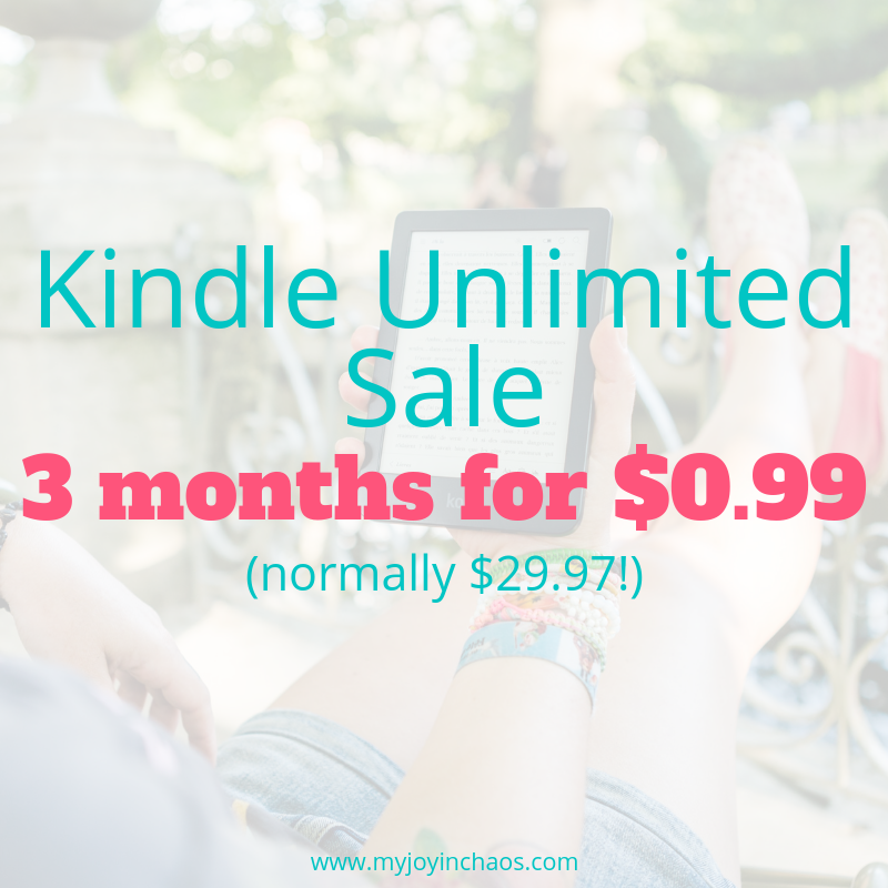 Get a 3 month subscription to Kindle Unlimited for only $0.99 through November 30th.
