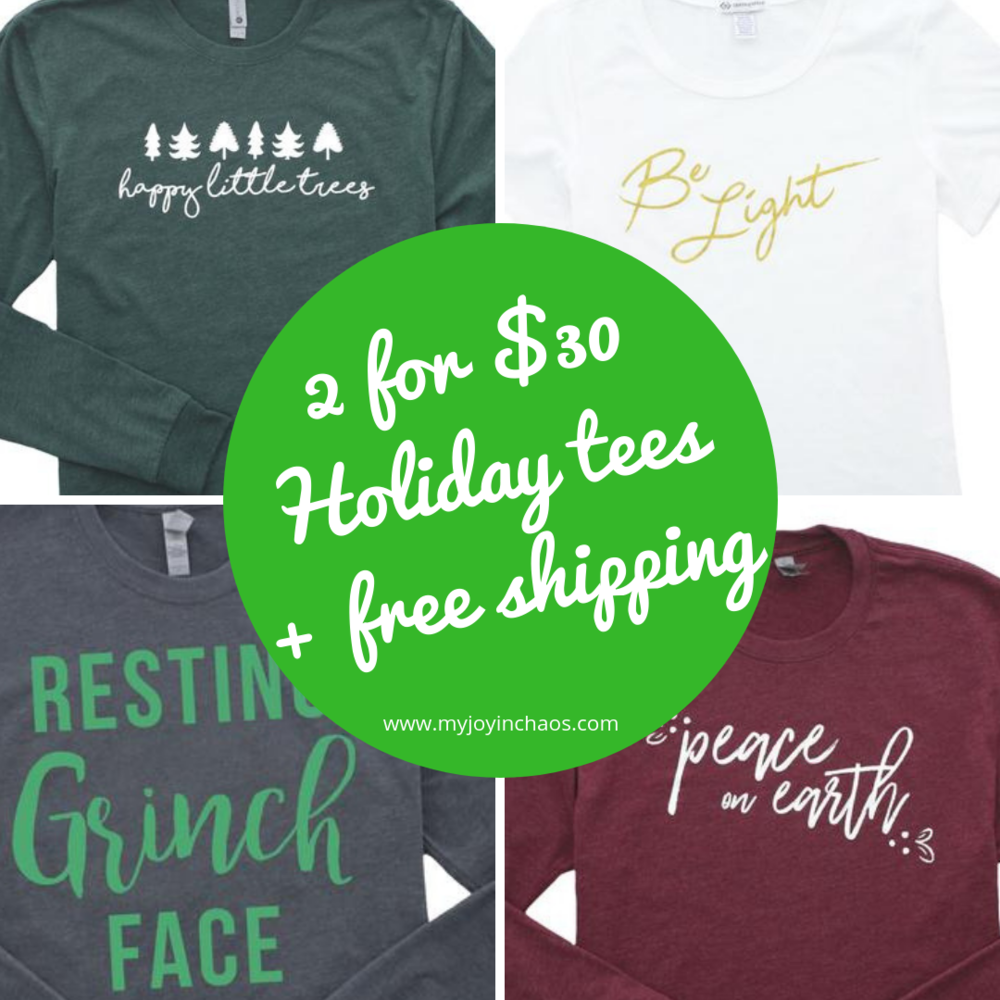 Stock your closet with festive cheer with these great holiday graphic tshirts. Be the talk of the office or party with these fun shirts for your holiday outfit.