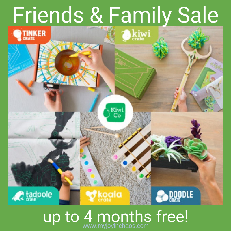 Get up to four months free with the purchase of a subscription to KiwiCo! Save big with this Friends & Family Sale and give this awesome gift to your kids for Christmas.