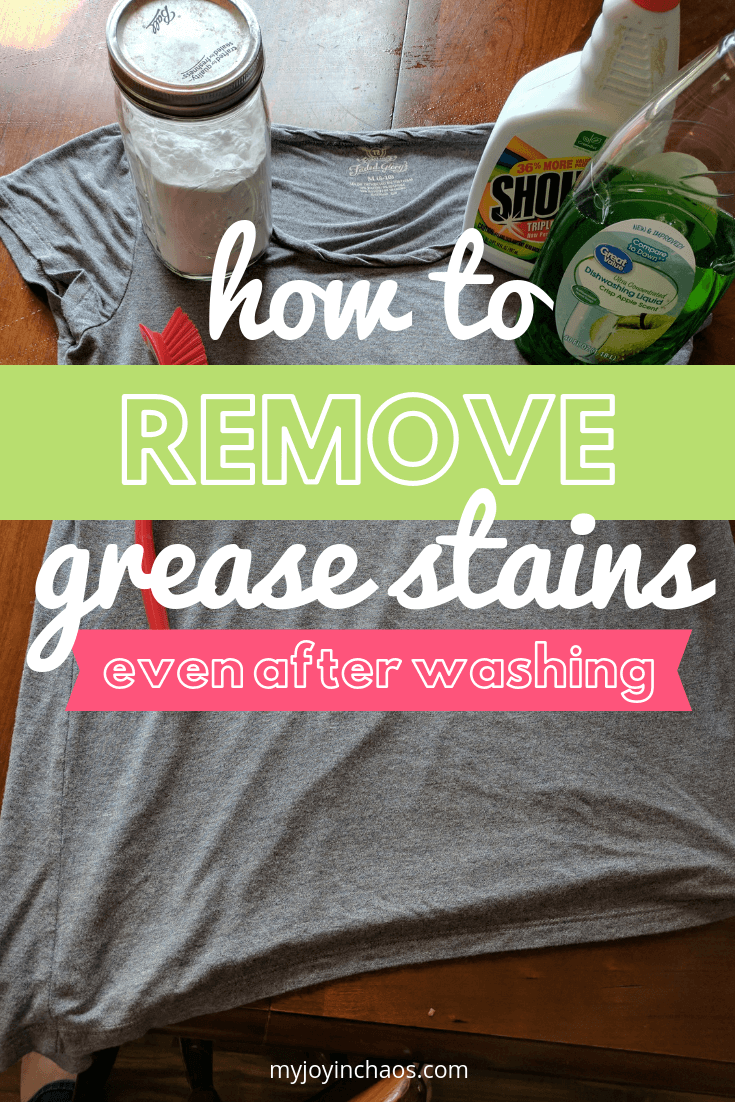 How to remove set in grease stains - even after washing and drying!