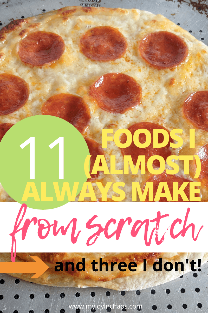 There are certain foods that are always worth making from scratch for me, and a few that I don't make from scratch. Isn't it time you start cooking from scratch as well?